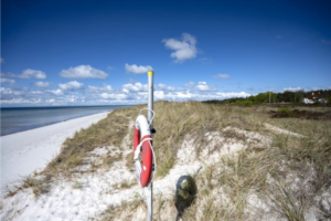 Bild på en strand